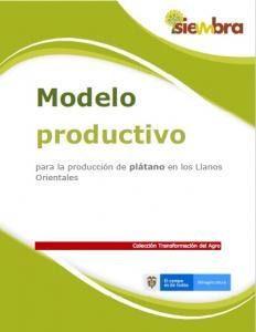 Cubierta para Modelo productivo para la producción de plátano en los Llanos Orientales